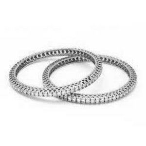 Jewelry - 3 Ct Round Diamond Bangle 14k White Gold Jewelry